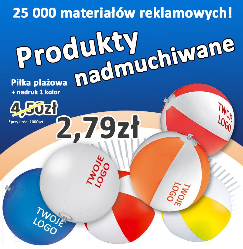 Produkty nadmuchiwane dostępne z nadrukiem w wielu kolorach!