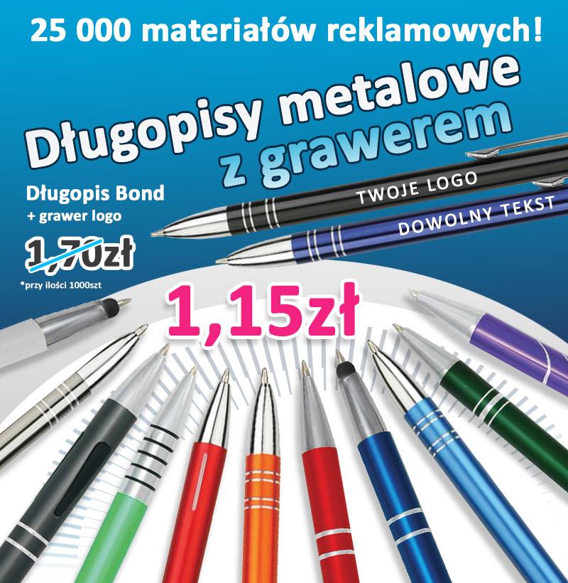 Kolekcja długopisów metalowych