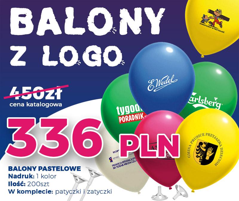 Balony z nadrukien 336zł/200szt
