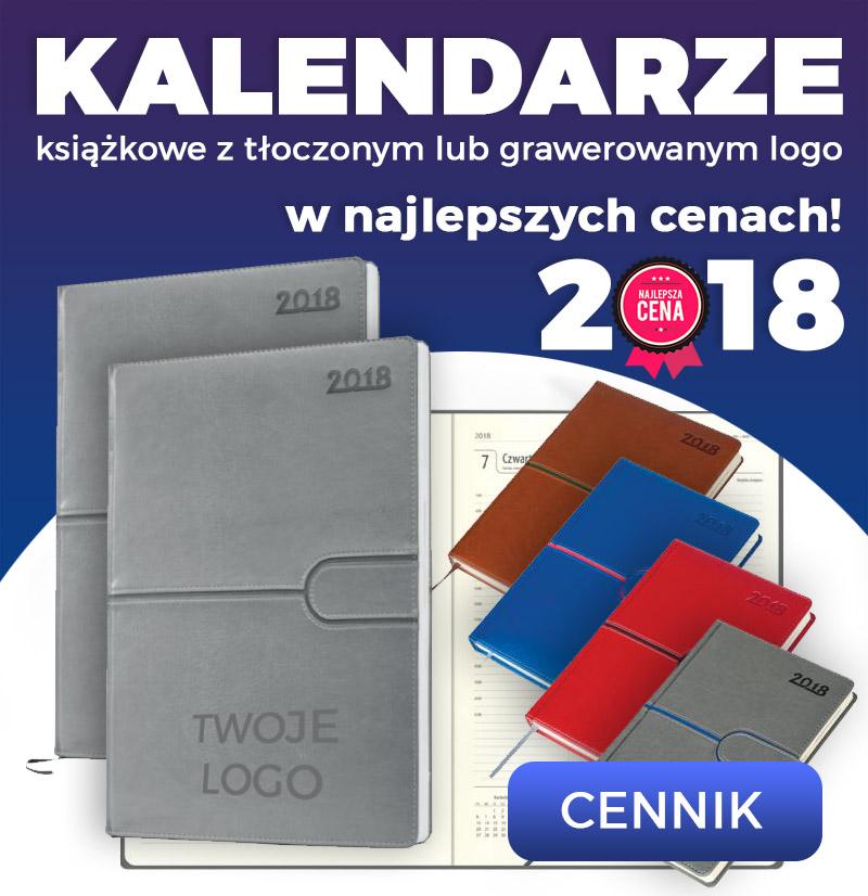 Kalendarze z tłoczonym logo 2018