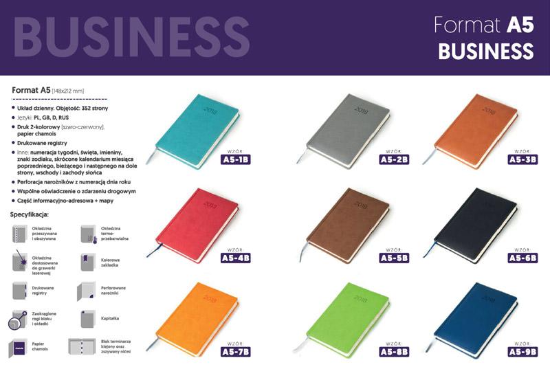 Kalendarze business A5